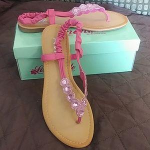 Pretty Pink Flat Sandals